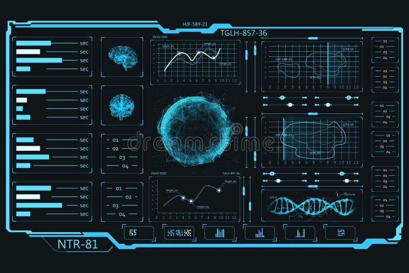 UI elementy Dotyka panel Ewidencyjne grafika i dane ilustracja wektor