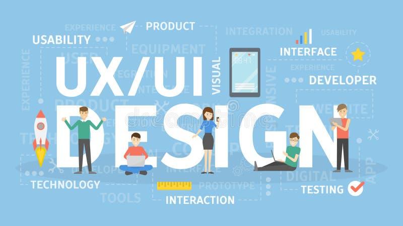 UI i UX royalty ilustracja
