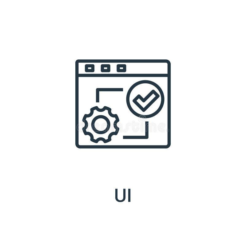 ui ikony wektor od seo kolekcji Cienka kreskowa ui konturu ikony wektoru ilustracja Liniowy symbol dla używa na sieci i wiszącej  ilustracja wektor