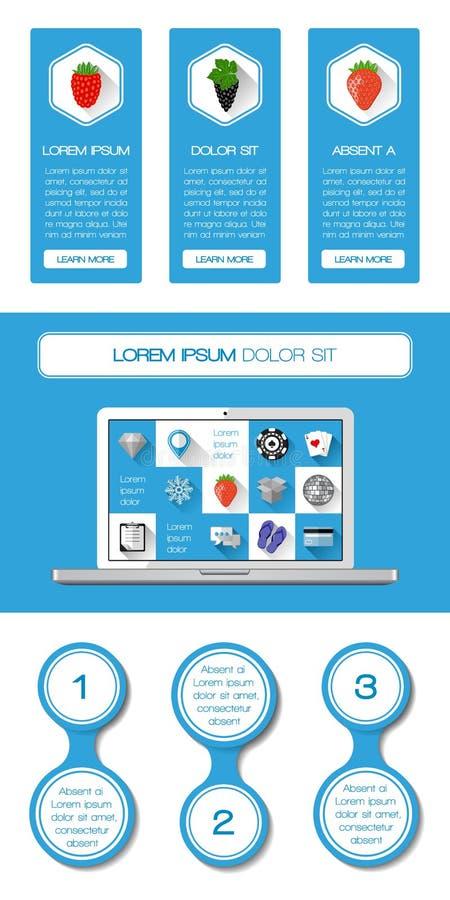 Download Ui, Infographics I Sieci Elementy, Ilustracja Wektor - Obraz: 36522625