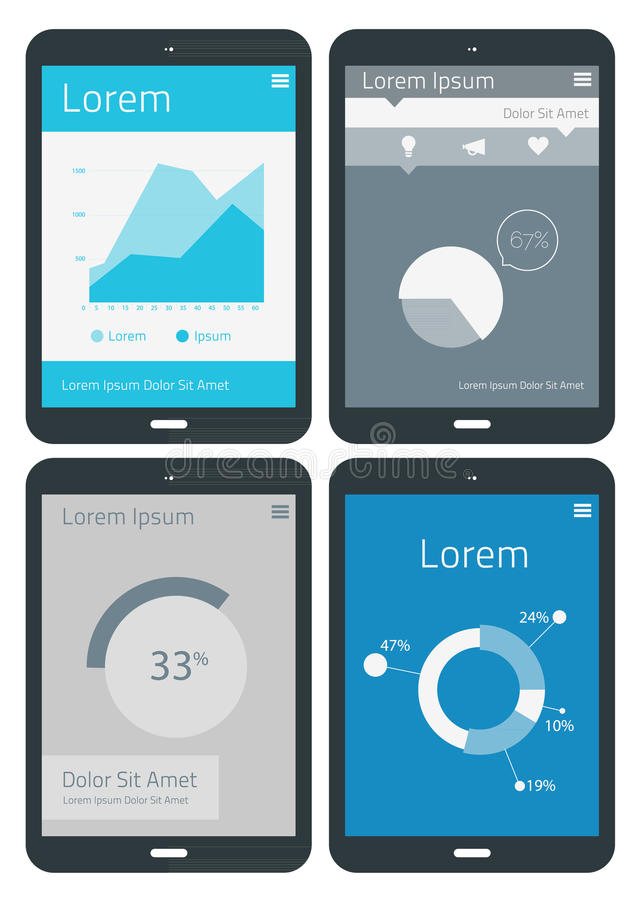 UI infographics templates royalty free illustration