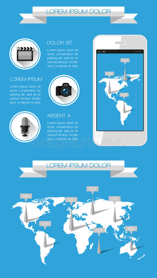 Ui, Infographics And Web Elements Stock Photography