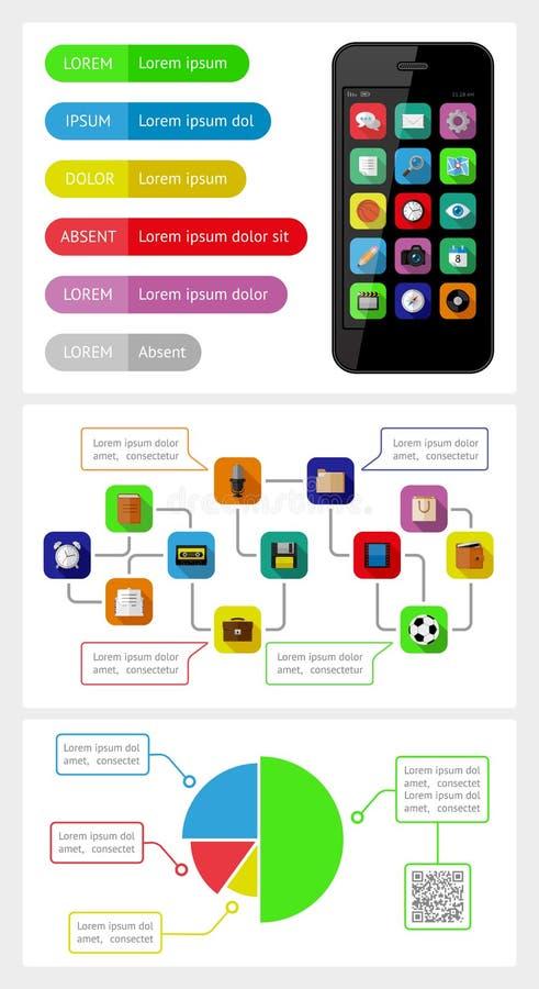 Infographics Ui Design Et Web Design: Ui, Infographics And Web Elements Including Flat D Stock