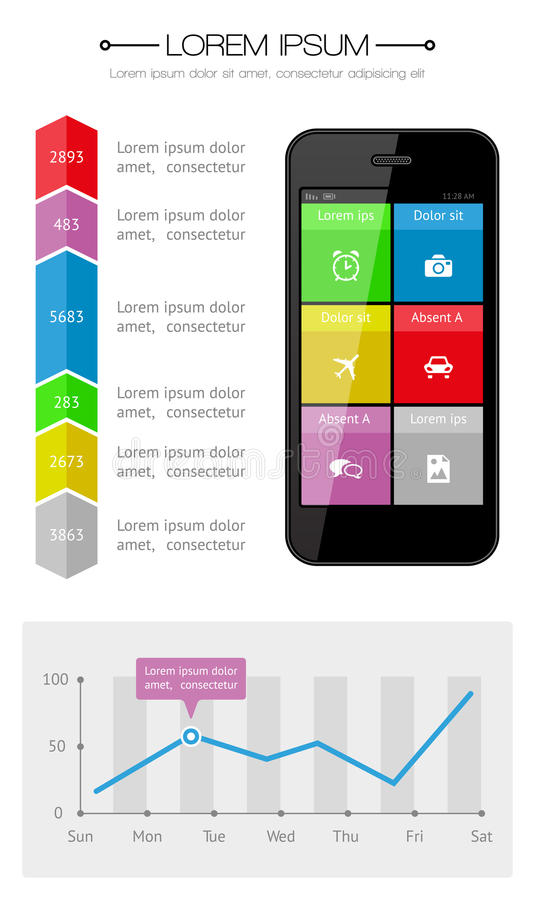 Download Ui, Infographics And Web Elements Including Flat D Stock Vector - Illustration of icon, graph: 33438128