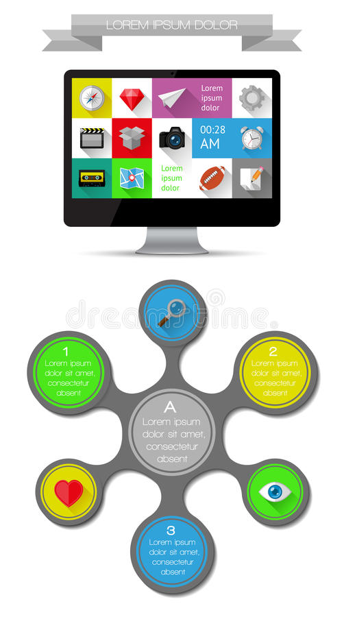 Download Ui, Infographics And Web Elements Including Flat D Stock Vector - Image: 34210189