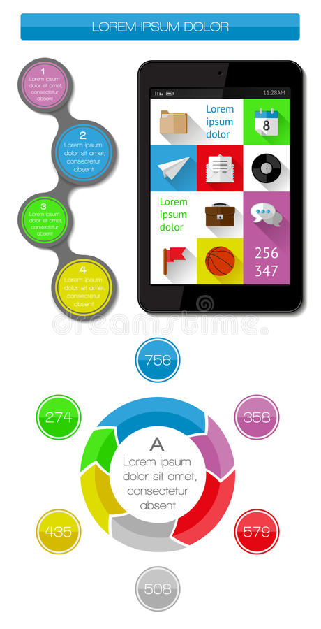 Download Ui, Infographics And Web Elements Including Flat D Stock Vector - Image: 34269197