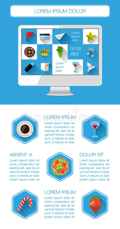Ui, Infographics And Web Elements Royalty Free Stock Photography