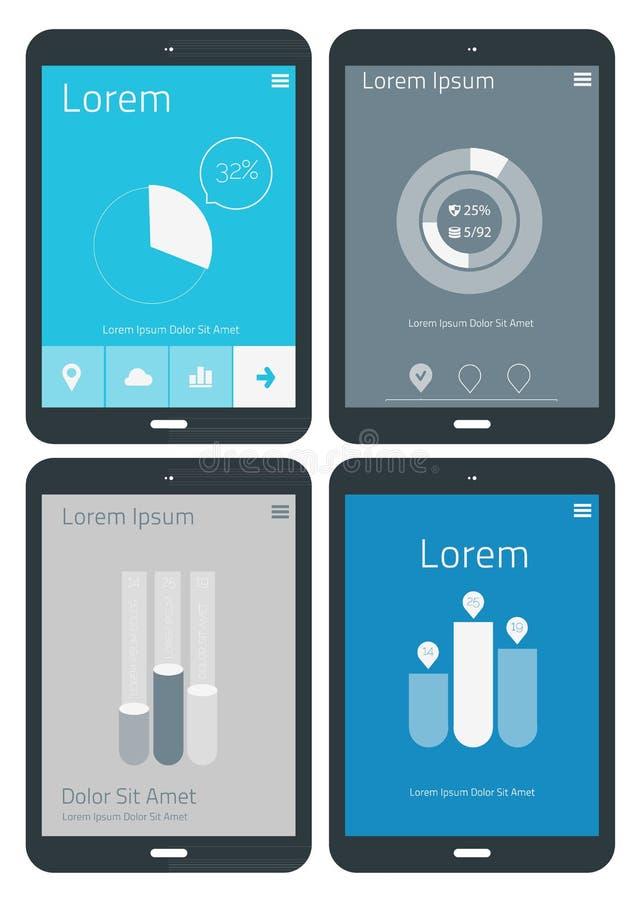 UI-infographicsmalplaatjes stock illustratie