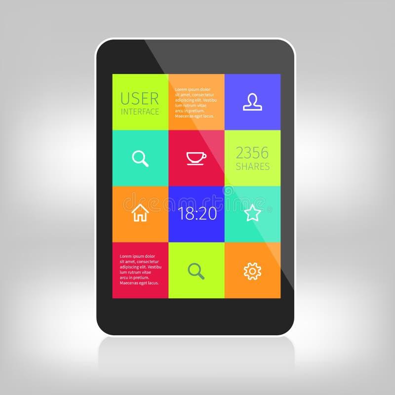 Ui kleurrijk ontwerp voor mobiele apparaten royalty-vrije illustratie