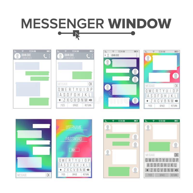 UI Móvil Kit Messenger Vector Set Plantilla Del Diseño Del App De La ...