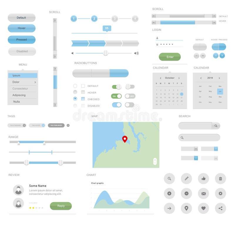 UI mega para o projeto do desktop ou de relação dos apps fotos de stock royalty free