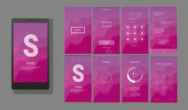 UI moderno, diseño de pantalla del GUI libre illustration