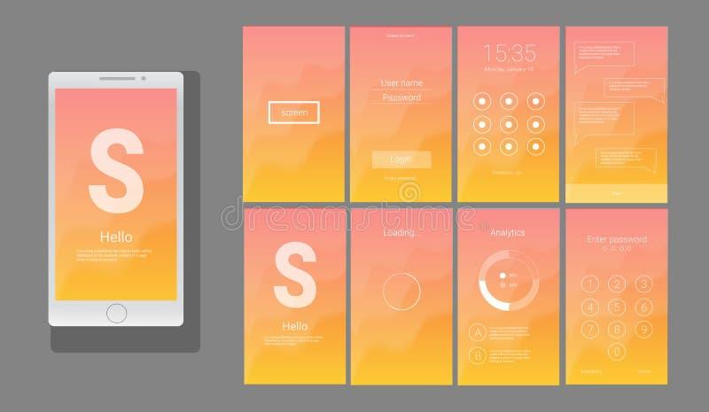 UI moderno, diseño del vector de la pantalla del GUI libre illustration