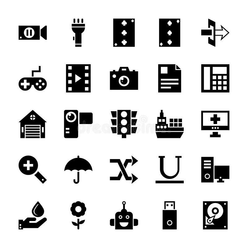 UI pictogrammenpak stock illustratie