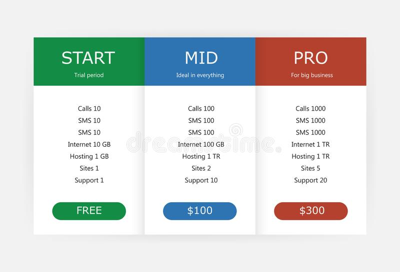 Rate, tariff. ui and ux, for business. Trade vector illustration vector illustration