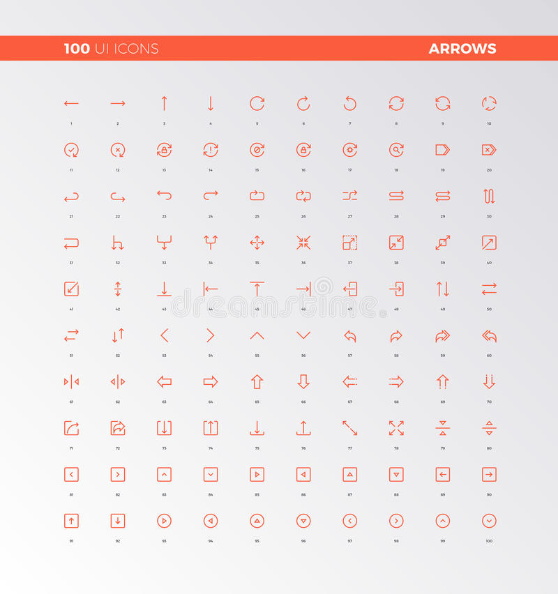 001 UI UX Arrow Icons royalty free illustration