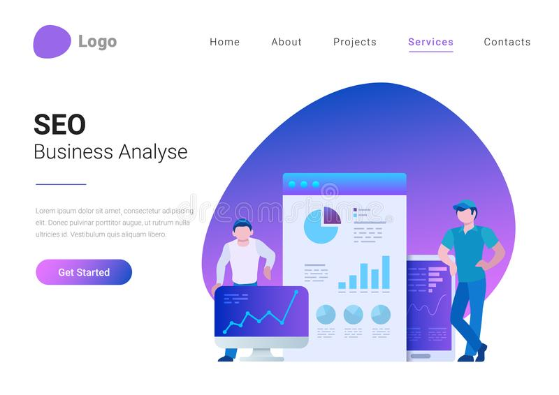 UI UX Design Teamwork Flat landing page vector ill vector illustration