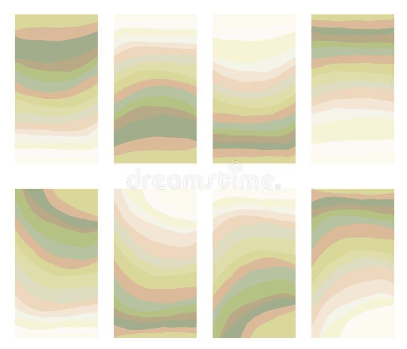 UI UX projekt, abstrakcjonistycznego pojęcia mieszanki stubarwny tło z koloru pastelu krzywy linii gradientem obrazy stock