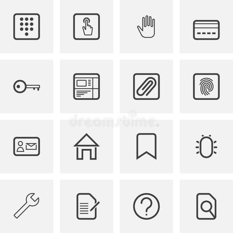 UI and UX, universal line icons set stock illustration
