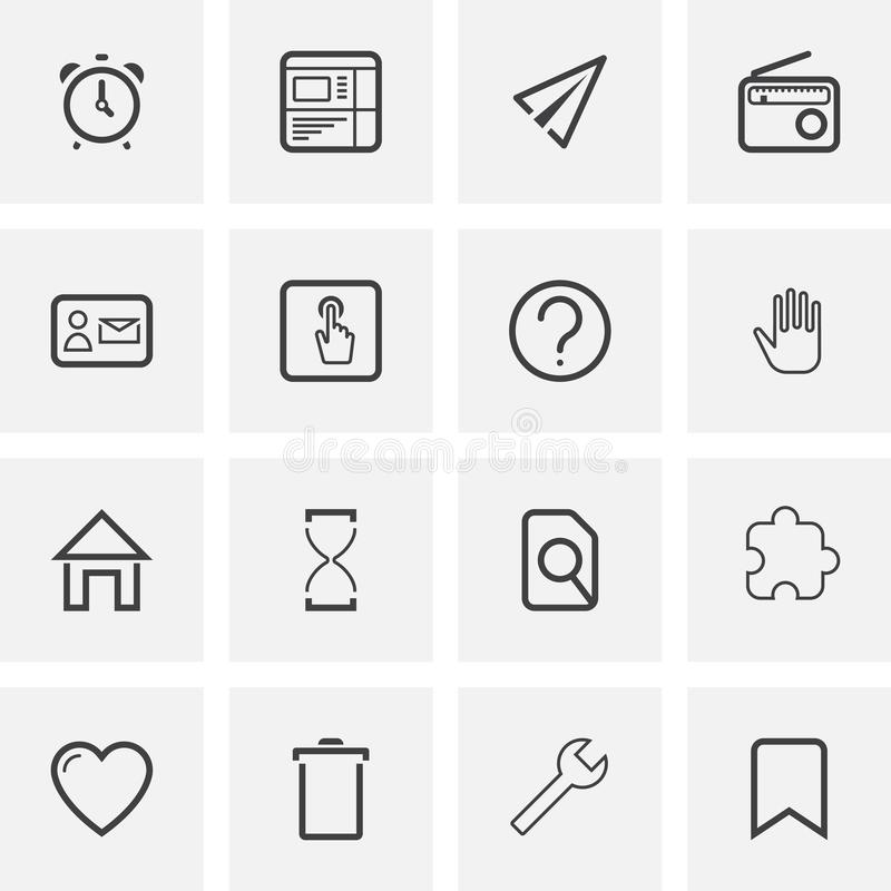 UI and UX, universal line icons set royalty free illustration