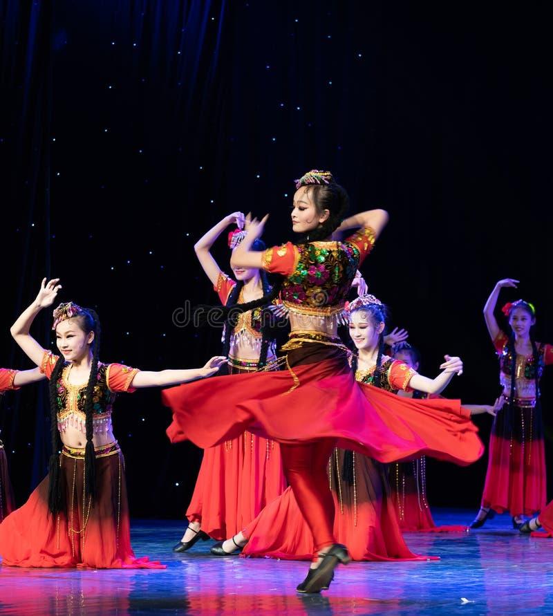 Uighurrosblom-Xinjiang uygur dans royaltyfri bild
