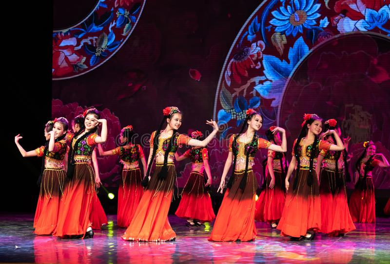 Uighurrosblom-Xinjiang uygur dans fotografering för bildbyråer