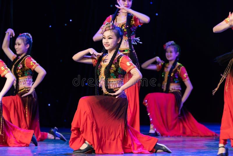 Uighurrosblom-Xinjiang uygur dans royaltyfria foton