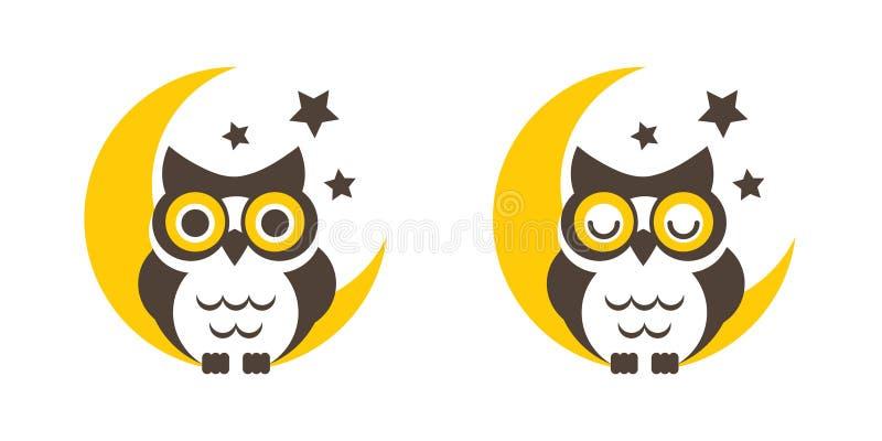 Uil met maan en sterren