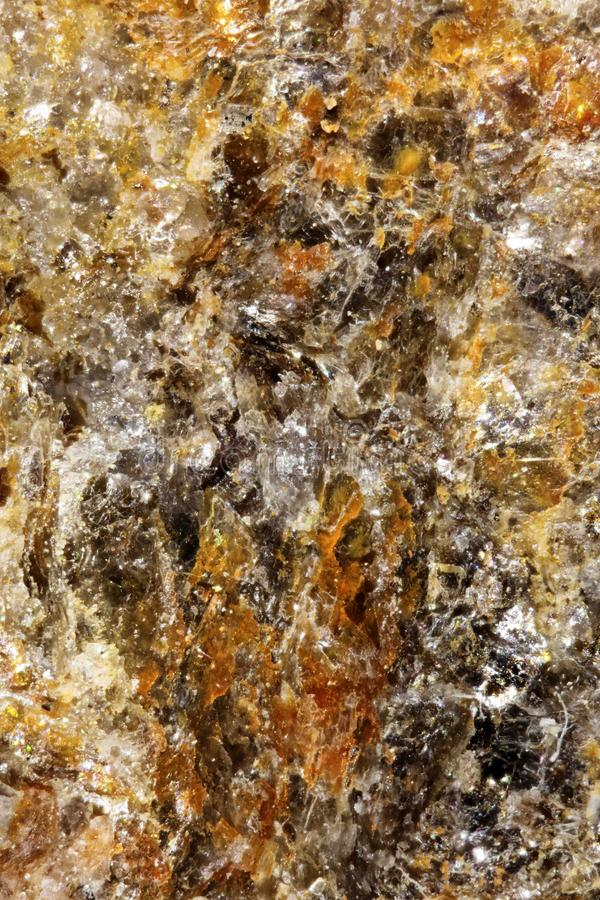 UIltranear View of Colorful Minerals. Ultranear shot of a stone found in the austrian alps showing colorful crystals of various minerals royalty free stock images