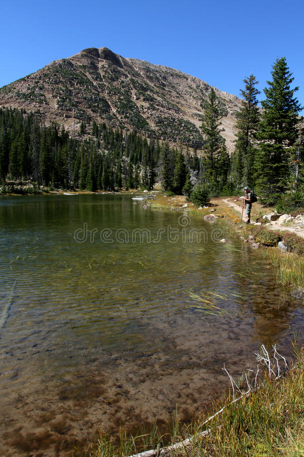 Uinta jezioro góry i zdjęcia stock