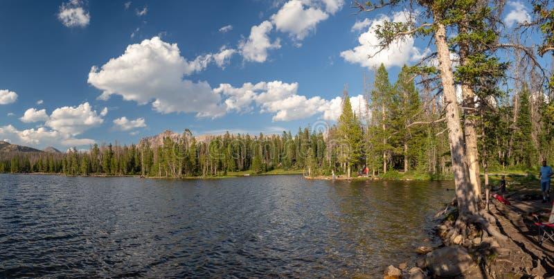 Uinta-Wasatch-Cache National Forest, Mirror Lake, Utah, United States, America, near Slat Lake and Park City stock image