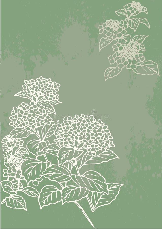 Uit de vrije hand bloempatroon royalty-vrije illustratie