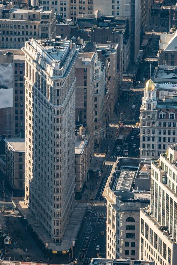 Uit het stadscentrum de gebouwen hoogste mening van Manhattan New York stock foto's
