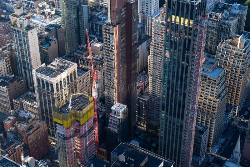 Uit het stadscentrum de gebouwen hoogste mening van Manhattan New York royalty-vrije stock afbeelding