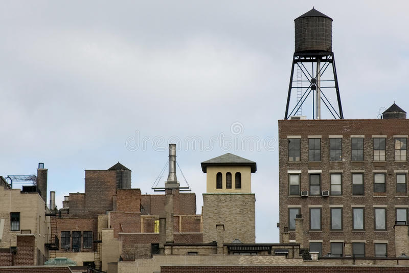 Uit het stadscentrum horizon NYC stock foto