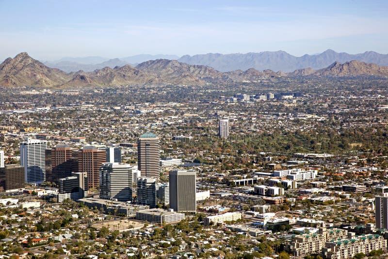 Uit het stadscentrum Horizon van Phoenix, Arizona stock afbeelding