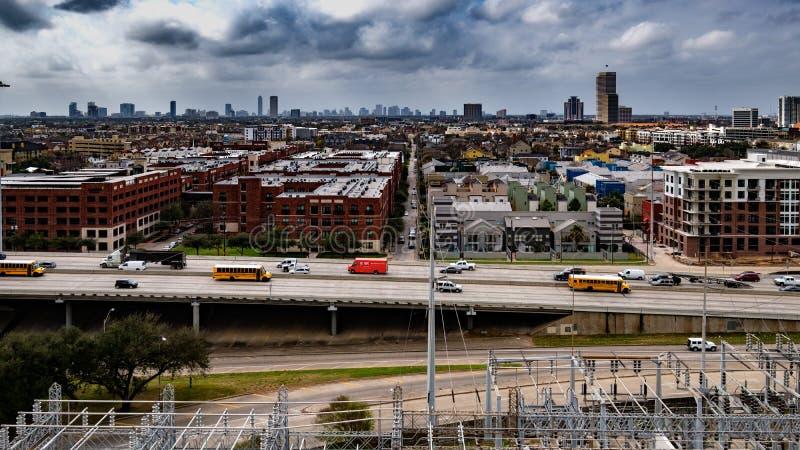 Uit het stadscentrum Houston, Texas stock foto