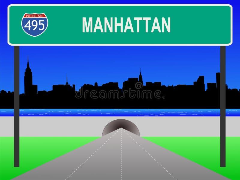 Uit het stadscentrum Manhattan vector illustratie