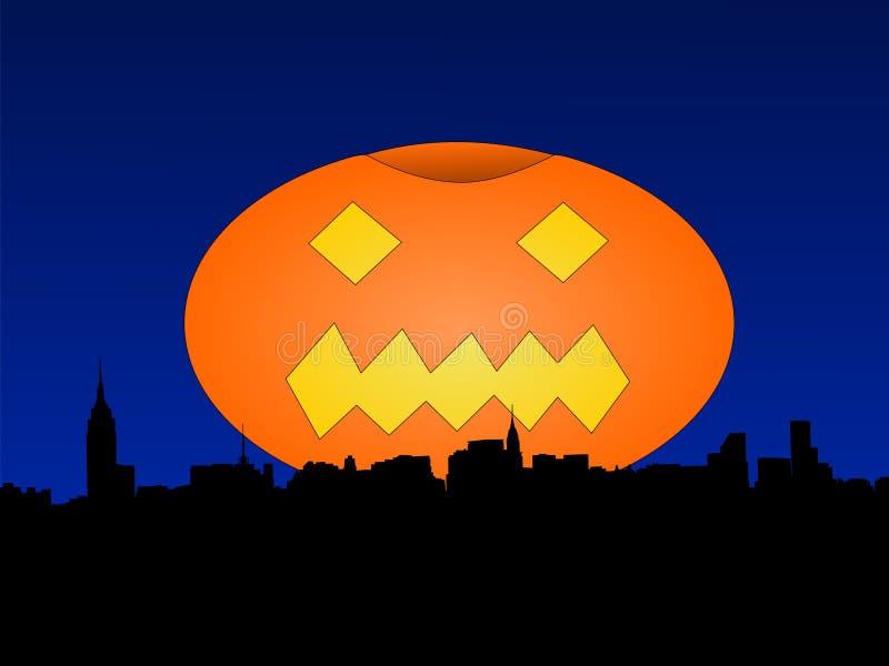 Uit het stadscentrum Manhattan in Halloween vector illustratie