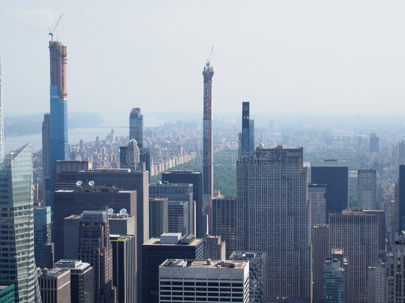 Uit het stadscentrum Manhattan royalty-vrije stock afbeelding
