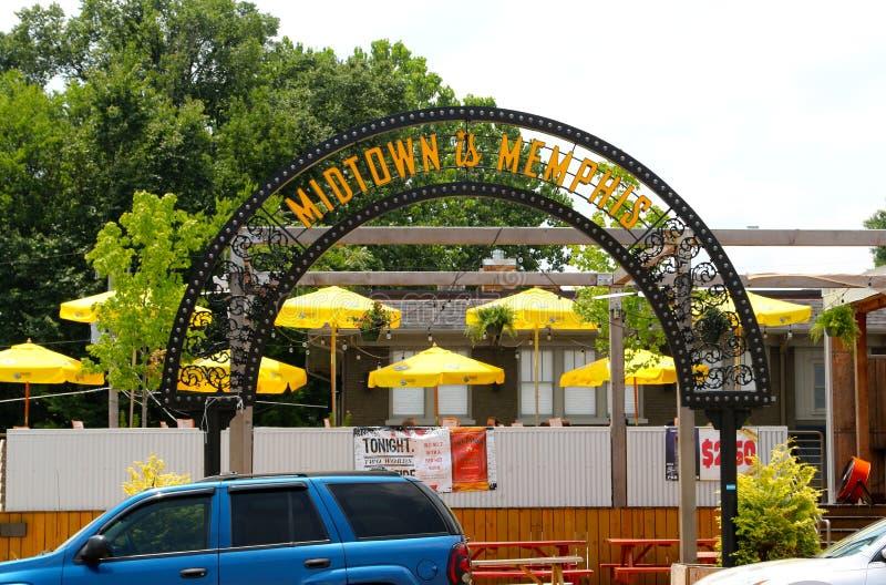 Uit het stadscentrum is Memphis Sign royalty-vrije stock afbeeldingen