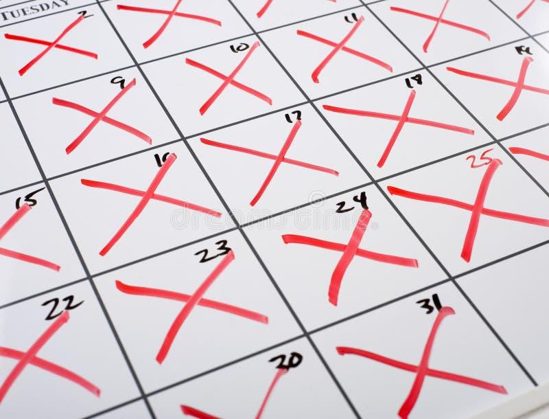 Uit Kalender x-D stock afbeeldingen