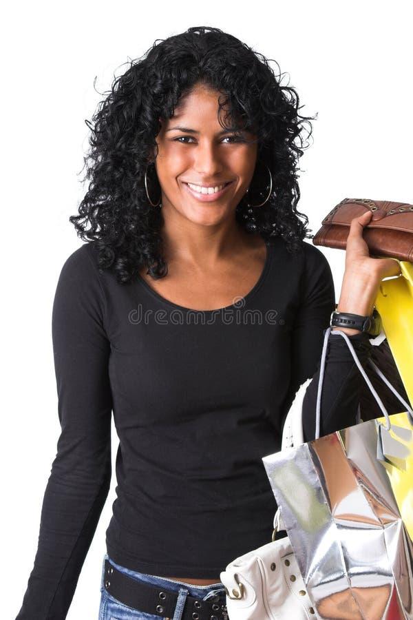 Uit op een het winkelen reis stock fotografie