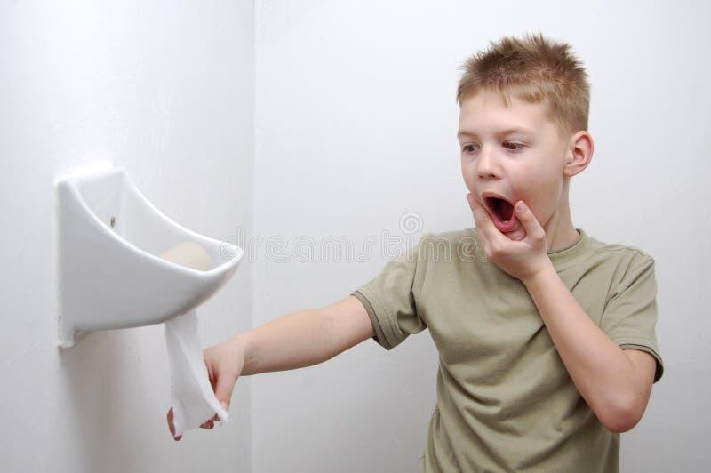 Uit toiletpapier stock foto