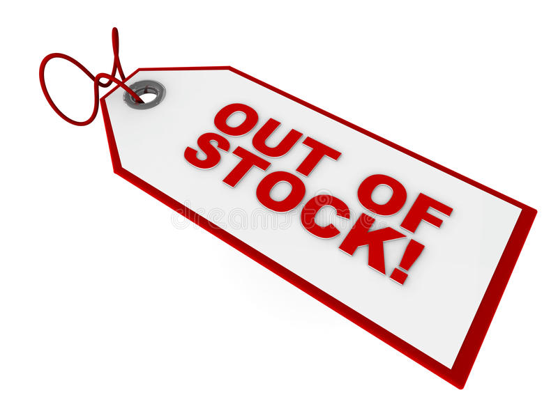 Uit - van - voorraadmarkering stock illustratie