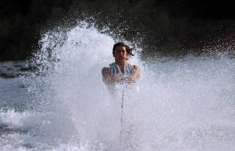 Uit water stock fotografie