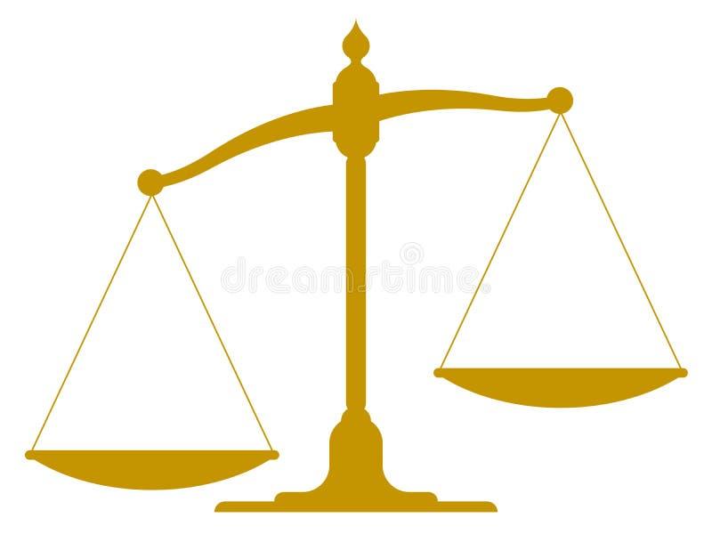 Uit zijn evenwicht gebrachte uitstekende schaal stock illustratie