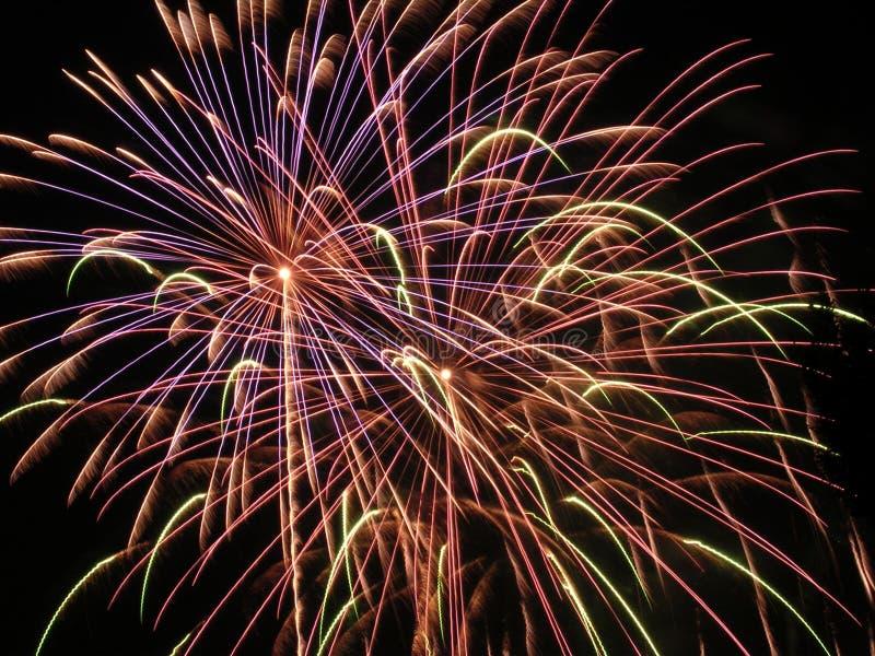Uitbarsting 3 van het vuurwerk stock foto
