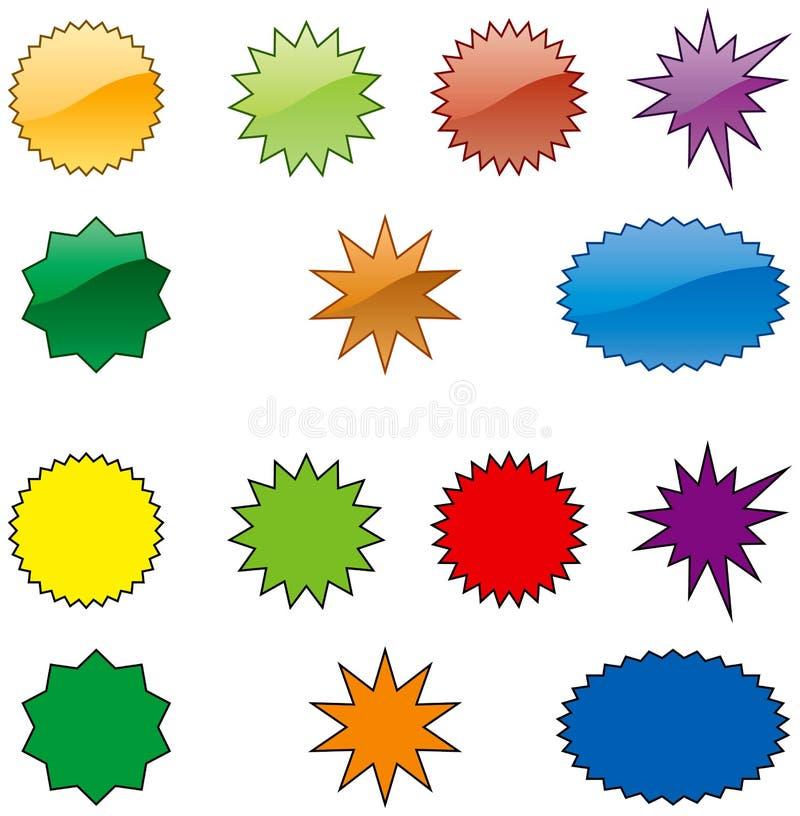 Uitbarsting-kleur royalty-vrije illustratie