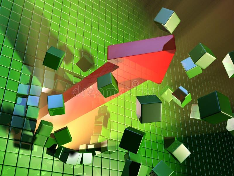 Uitbreiding vector illustratie